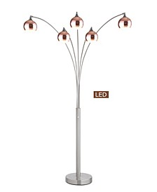 """Amore 86"""" LED Arched Floor Lamp with Dimmer, 5000 Lumens"""
