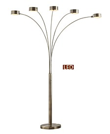 Micah LED 5-Arch Floor Lamp W/Dimmer