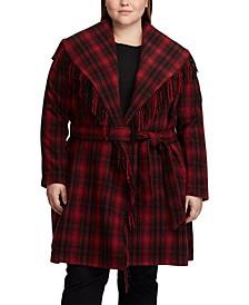 Plus Size Fringe Coat