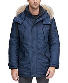 Men's Lafayette Four Pocket Parka with Removable Fur Trimmed Hood
