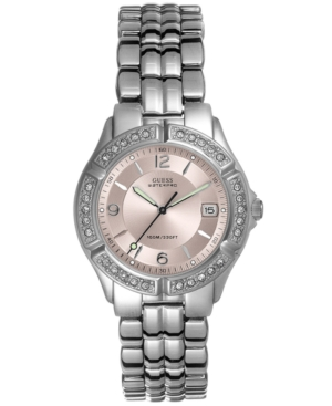 Guess Watch, Women's Glitz Bezel Bracelet 26mm G75791M