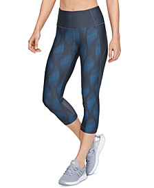 Women's HeatGear® Printed Compression Capri Leggings