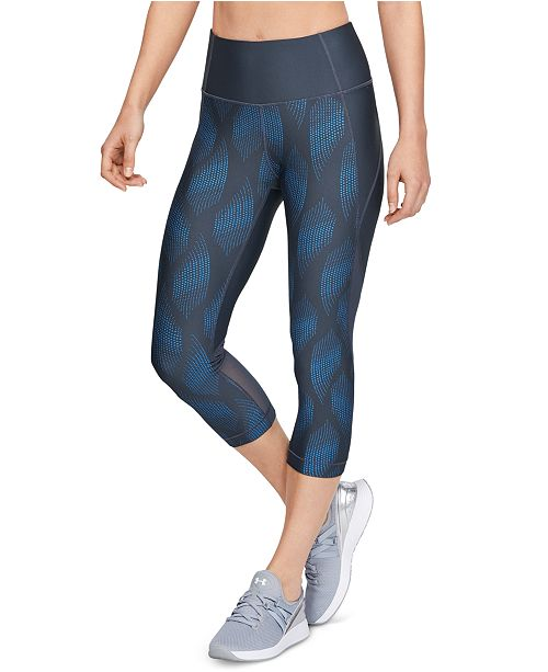 Under Armour Women's HeatGear® Printed Compression Capri Leggings