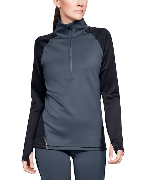 Under Armour Women's ColdGear® Colorblocked Half-Zip Training Top