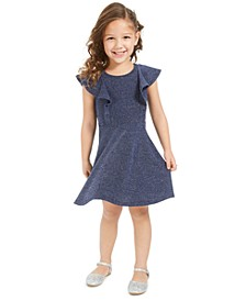 Little Girls Metallic Flutter Dress, Created For Macy's