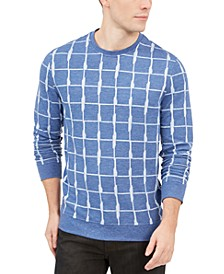 Men's Jacquard Grid Sweatshirt, Created For Macy's