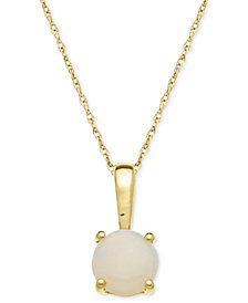 Opal Pendant Necklace in 14k Gold (5/8 ct. t.w.)