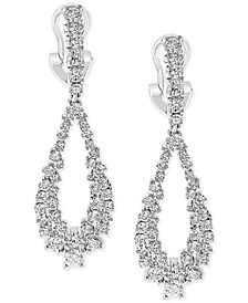 EFFY® Diamond Cluster Teardrop Drop Earrings (2-1/6 ct. t.w.) in 14k White Gold