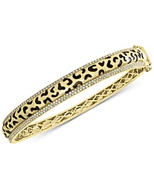 EFFY® Diamond Animal Pattern Bangle Bracelet (3/4 ct. t.w.) in 14k Gold