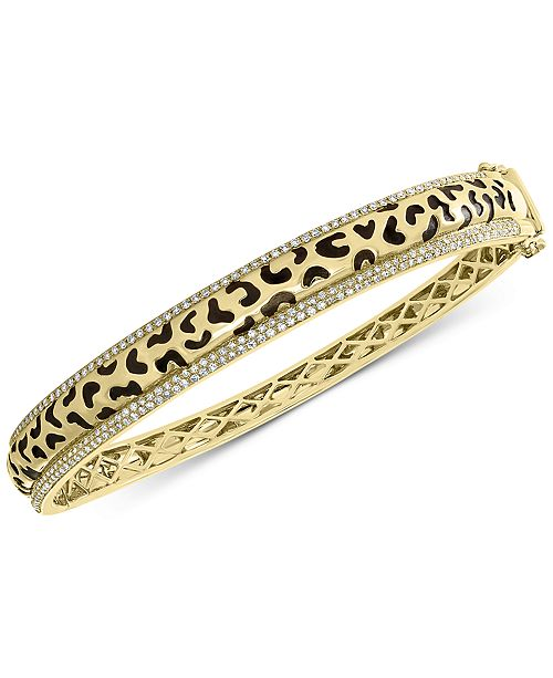 EFFY Collection EFFY® Diamond Animal Pattern Bangle Bracelet (3/4 ct. t.w.) in 14k Gold