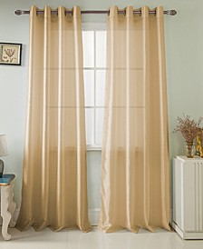 "Nancy 54"" x 63"" Faux Silk Curtain Panel"