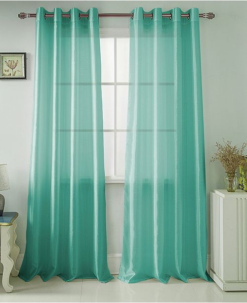 """RT Designers Collection Nancy 54"""" x 63"""" Faux Silk Curtain Panel"""
