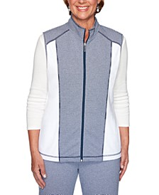 Road Trip Striped Panel Vest