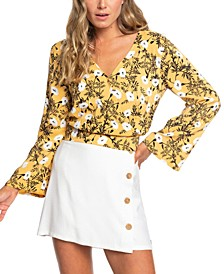 Juniors' Like Gold Floral-Print Crop Top