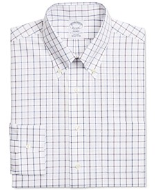 Men's Regent Slim-Fit Non-Iron Check Supima Cotton Dress Shirt