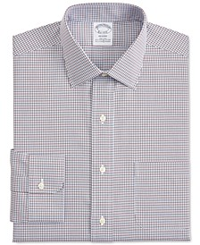 Men's Regent Slim-Fit Non-Iron Performance Stretch Check Dress Shirt