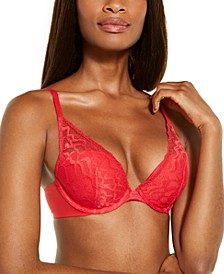 Perfectly Fit Etched Lace Lightly Lined Plunge Bra QF5332