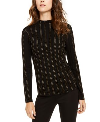INC Embellished Mock-Neck Sweater, Created For Macy's