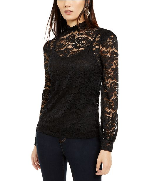 INC International Concepts INC Lace Blouson Top, Created For Macy's