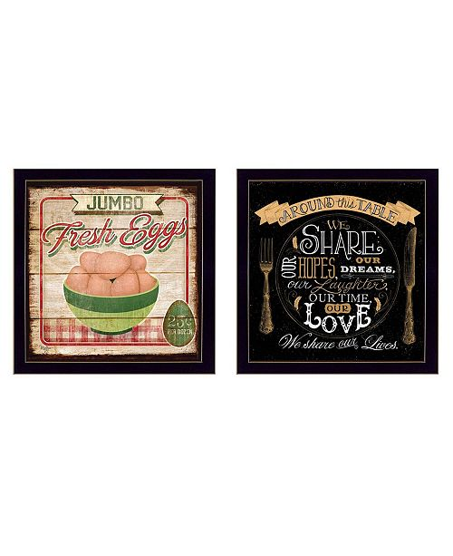 """Trendy Decor 4U Trendy Decor 4U Around the Table Collection By Mollie B. and D. Strain, Printed Wall Art, Ready to hang, Black Frame, 28"""" x 14"""""""