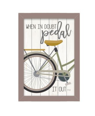 """When In Doubt By Marla Rae, Printed Wall Art, Ready to hang, Gray Frame, 14"""" x 20"""""""