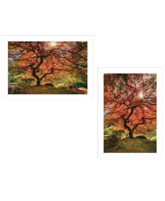 First Colors of Fall I 2-Piece Vignette by Moises Levy, White Frame, 21