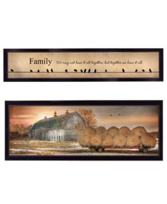 """Together Blessed We Have It All 2-Piece Vignette by Lori Deiter, Black Frame, 38"""" x 14"""""""