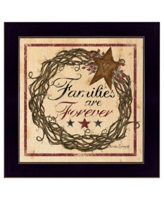 """Families are Forever by Linda Spivey, Ready to hang Framed Print, Black Frame, 14"""" x 14"""""""