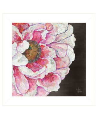 Blooms on Black I by Lisa Morales, Ready to hang Framed Print, Black Frame, 15