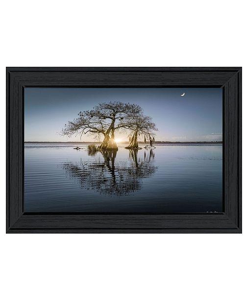 "Trendy Decor 4U Trendy Decor 4U Tree Reflections by Moises Levy, Ready to hang Framed Print, Black Frame, 21"" x 15"""