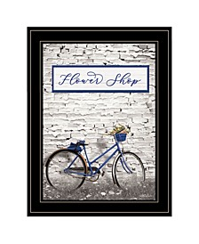 """Flower Shop Bicycle by Lori Deiter, Ready to hang Framed Print, Black Frame, 15"""" x 19"""""""