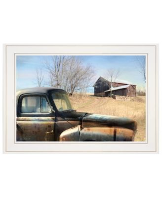 "Vintage-Like Farm Trucks by Lori Deiter, Ready to hang Framed Print, White Frame, 21"" x 15"""