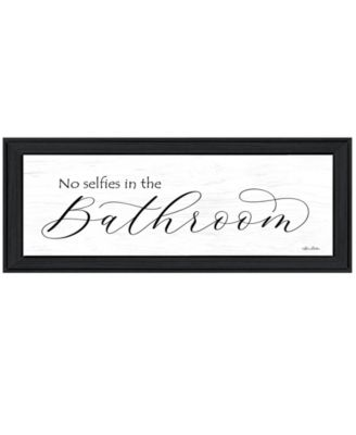 """No Selfies in the Bathroom by Lori Deiter, Ready to hang Framed Print, Black Frame, 23"""" x 11"""""""