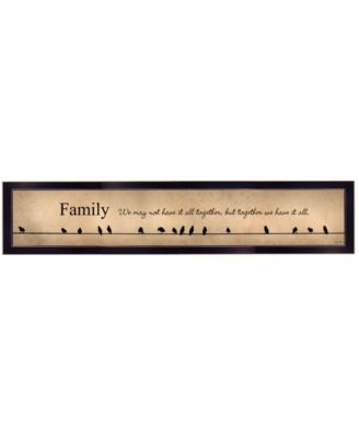 """Family - Together We Have It All by Lori Deiter, Ready to hang Framed Print, Black Frame, 38"""" x 8"""""""