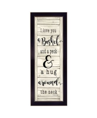 """Hug Around the Neck By Cindy Jacobs, Printed Wall Art, Ready to hang, Black Frame, 10"""" x 26"""""""