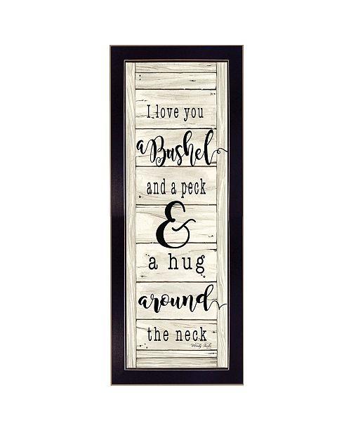 "Trendy Decor 4U Trendy Decor 4U Hug Around the Neck By Cindy Jacobs, Printed Wall Art, Ready to hang, Black Frame, 10"" x 26"""