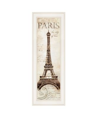 """Paris Panel by Cloverfield Co, Ready to hang Framed Print, White Frame, 8"""" x 23"""""""