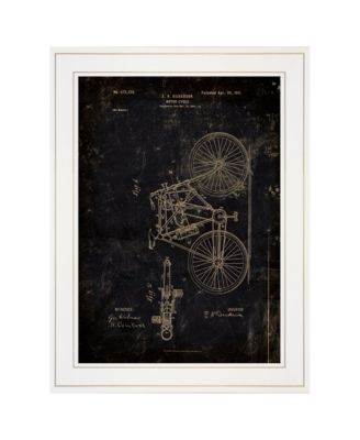 """Motor Bike Patent I by Cloverfield Co, Ready to hang Framed Print, White Frame, 15"""" x 19"""""""