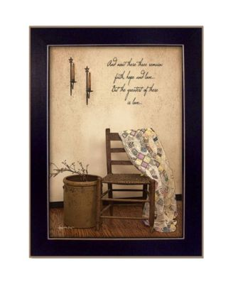 """These Three Remain By SUSAn Boyer, Printed Wall Art, Ready to hang, Black Frame, 14"""" x 10"""""""