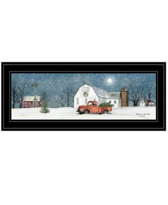 """Winter on The Farm by Billy Jacobs, Ready to hang Framed Print, Black Frame, 27"""" x 11"""""""