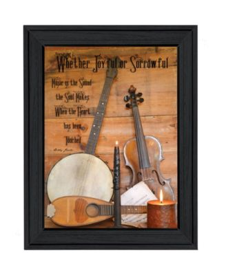 """Music By Billy Jacobs, Printed Wall Art, Ready to hang, Black Frame, 21"""" x 15"""""""