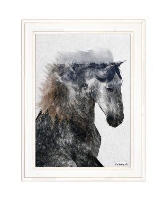 """Proud Stallion by andreas Lie, Ready to hang Framed Print, White Frame, 15"""" x 19"""""""