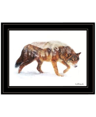 Arctic Wolf by andreas Lie, Ready to hang Framed Print, White Frame, 19