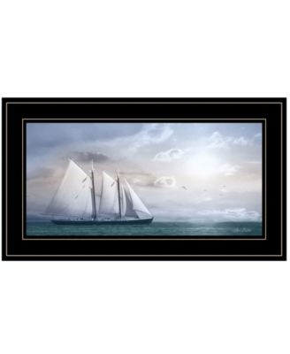 "Adventure on the Seas by Lori Deiter, Ready to hang Framed Print, Black Frame, 21"" x 12"""