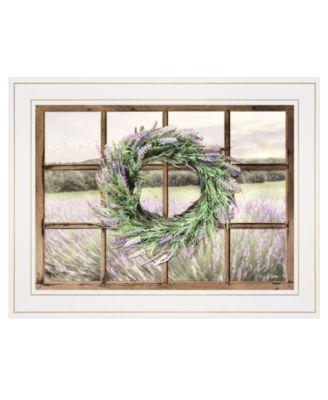 """Country Gazing by Lori Deiter, Ready to hang Framed Print, White Window-Style Frame, 19"""" x 15"""""""