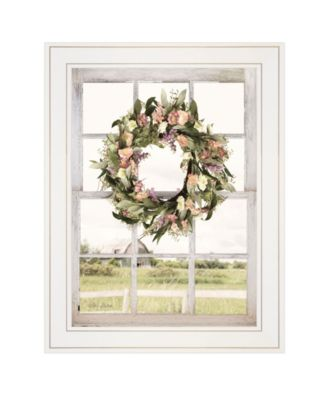 """Summer View by Lori Deiter, Ready to hang Framed Print, White Window-Style Frame, 15"""" x 19"""""""