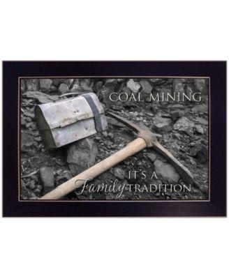 Coal Mining by Lori Deiter, Ready to hang Framed Print, White Frame, 20