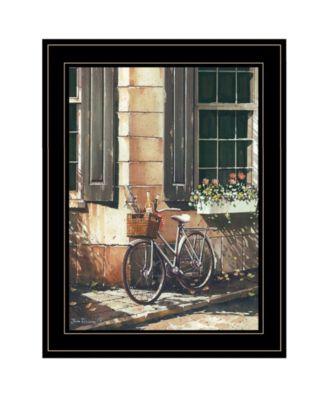 "Picnic Getaway by John Rossini, Ready to hang Framed Print, Black Frame, 15"" x 19"""