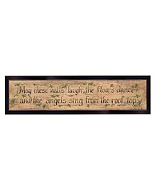 "Trendy Decor 4U Angels Sing by Gail Eads, Reay to Hang Framed Print, Black Frame, 20"" x 6"""