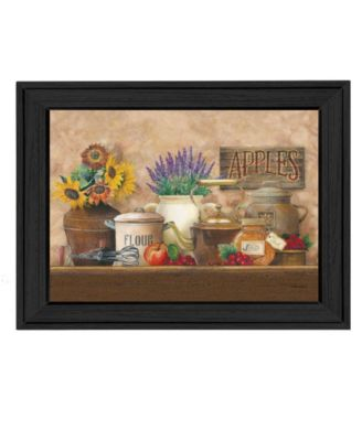 """Antique Kitchen By Ed Wargo, Printed Wall Art, Ready to hang, Black Frame, 14"""" x 10"""""""
